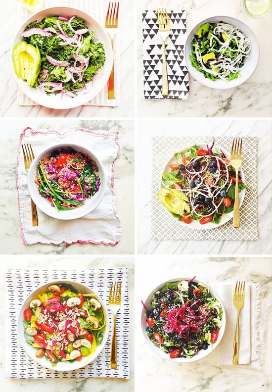 Roasted kale salad // A House in the Hills