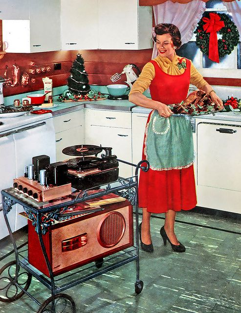 Vintage style music center for Christmas