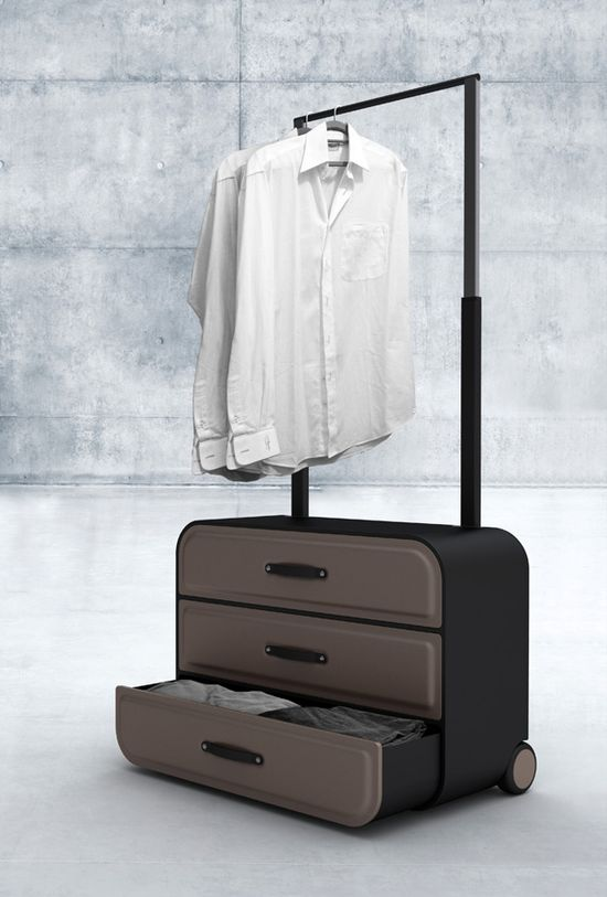 Traveler's Closet – Closet-styled Suitcase so cool!!