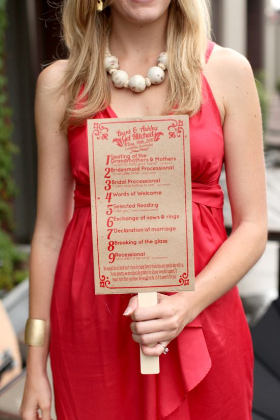 programs on fans for outdoor weddings