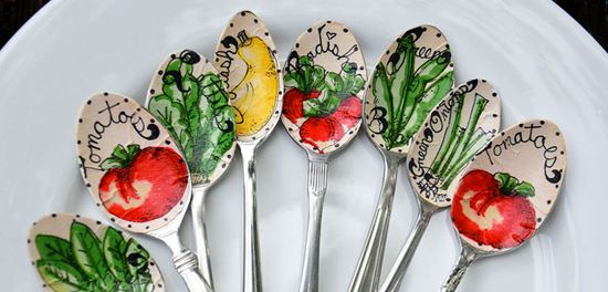 Mothers Day Ideas: Handmade Gift Ideas - Spoon Garden Stakes