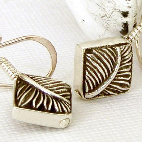 Feather Earrings  Sterling Silver Dangle by jQjewelrydesigns, $35.00