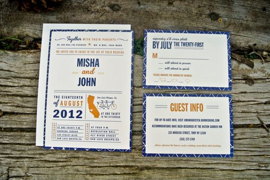 Wedding Invitations Retro and Modern State, love the RSVP by WideEyesDesign, $2.00