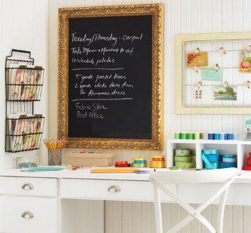 Love the chalkboard.