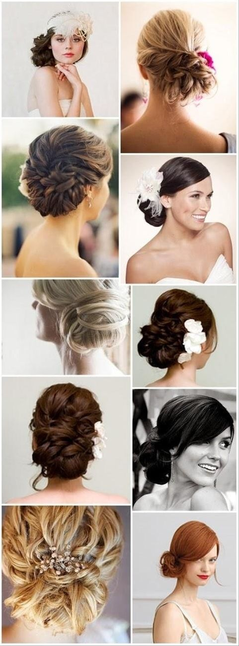 Wedding Hairstyle Inspiration. Beautiful Hair Styles for the bride.
