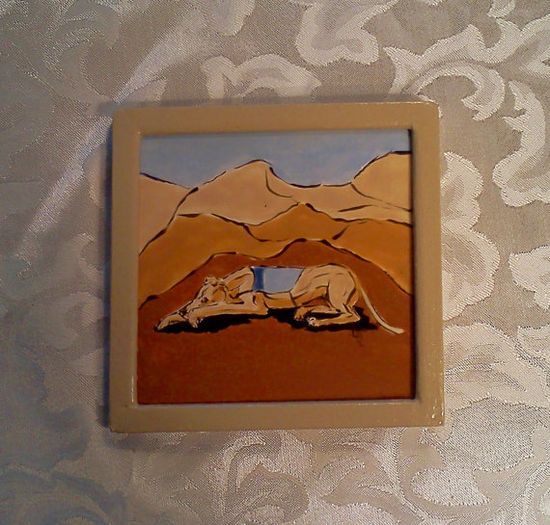GREYHOUND  WHIPPET tile Ltd Ed. Sighthound Series by neboshoh, $18.00