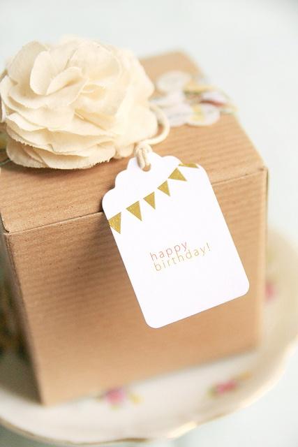 brown box gift idea