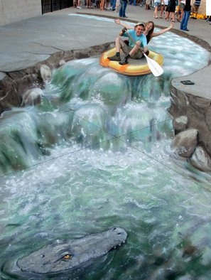 Tell Me More: Sidewalk Illusions 3D Arts, Cool Painting in the Street