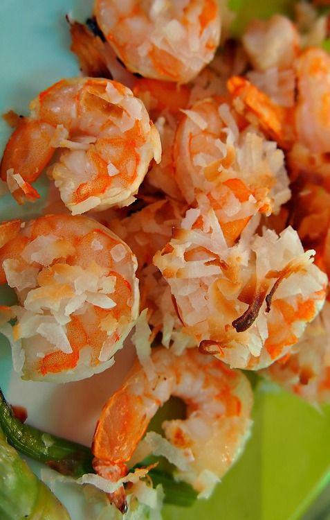 Baked Coconut Honey Shrimp