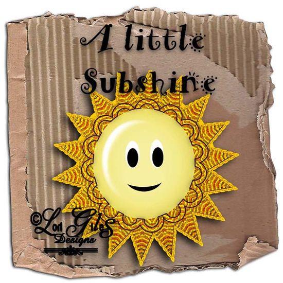 A Little Sunshine Freebie - Digital Scrapbooking - It's Free! : Vintage Nest Designs, Creative Handmade and Hand Painted Designs