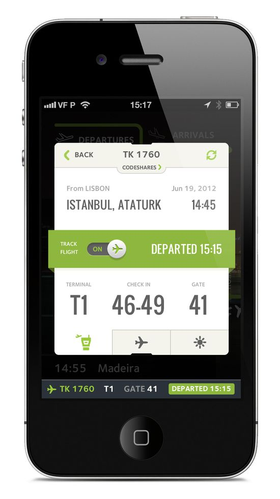 #tabs #iphone   Boarding pass app.