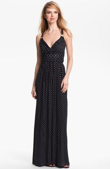 Wear this: Polka Dot Halter Maxi