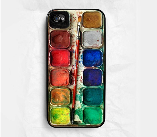 iPhone 4 case iPhone 4s case - Watercolor Set iPhone Hard Case. $7.99, via Etsy.