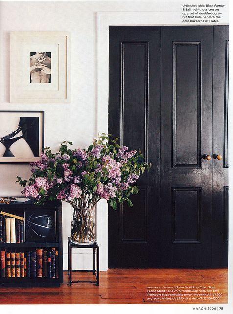 Black doors, #interior design #architecture #design bedrooms