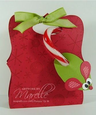 Marelle Taylor Stampin' Up! Demonstrator Sydney Australia: Candy Cane Mice & Top Note Treat Pouch