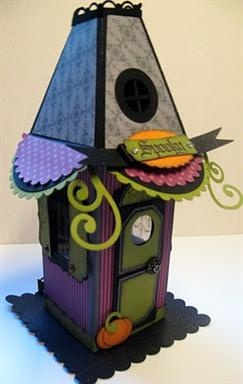 Stampin' Up! Petal Cone Halloween House