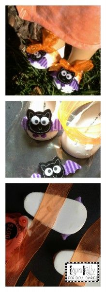 DIY fashion shoes for dolls!  Batty!!!