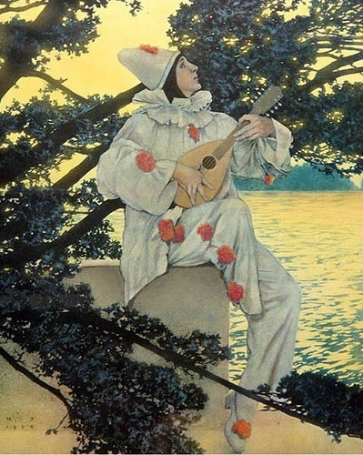 Maxfield Parrish,1908, 'The Lute Player'