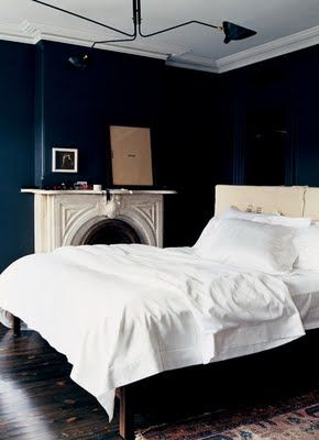 Jenna Lyons' bedroom as featured by Domino Magazine