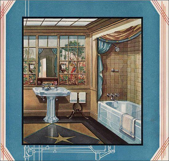1929 Crane Bathroom by American Vintage Home, via Flickr