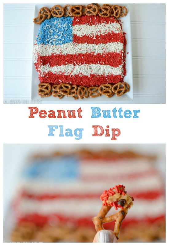 Peanut Butter Flag Dip by crazyforcrust.com