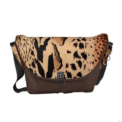 Wild Animals Pattern Courier Bag