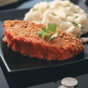 Healthy Slow-Cooked Meat Loaf Slow Cooker Recipe from #TasteofHome