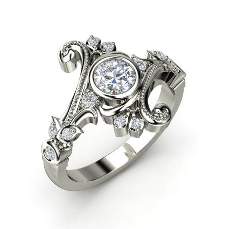 The Flamenco Ring #customizable #jewelry #diamond #whitegold #ring
