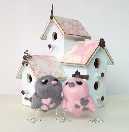 I love these bird houses!