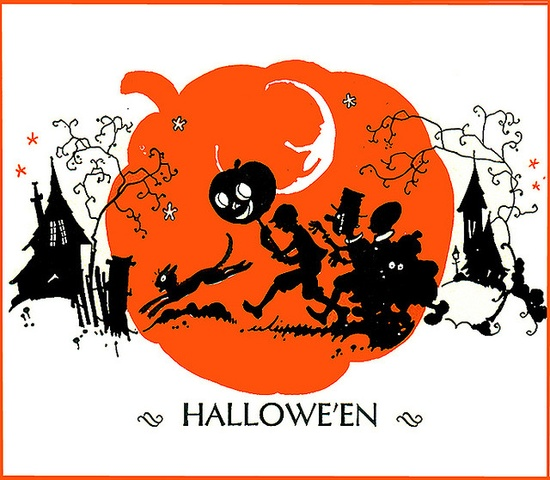 Wacky Halloweeners--Cropped--John Martin's Magazine--Vintage Halloween Illustration