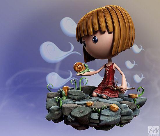 3d Characters by Antony Ward