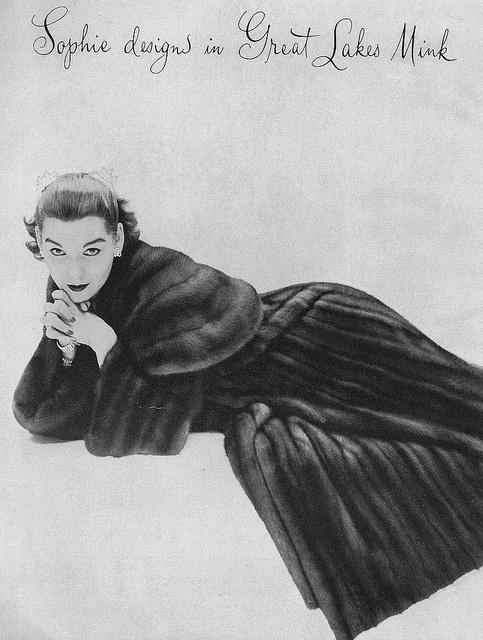 Cold weather elegance from 1953. #coat #vintage #fashion #1950s