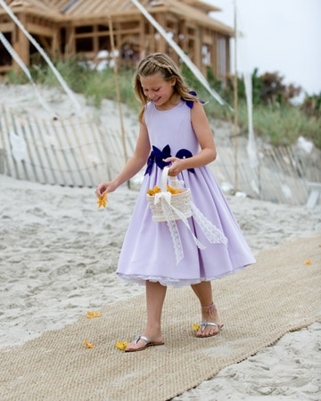 A two-tone  dress for a beach wedding