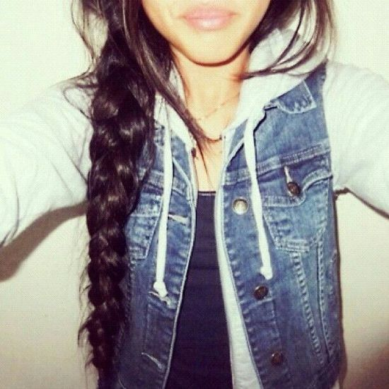 Jacket and braided hair :))