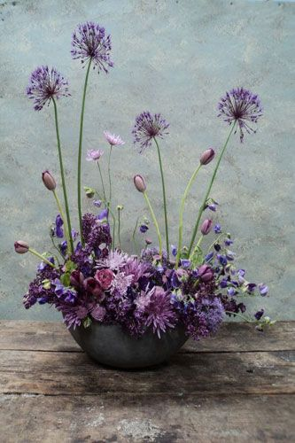 A lovely and wild dandelion arrangement.