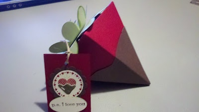 Chocolate Covered Strawberry (made with Stampin' Up!'s Petal Cone Die!)