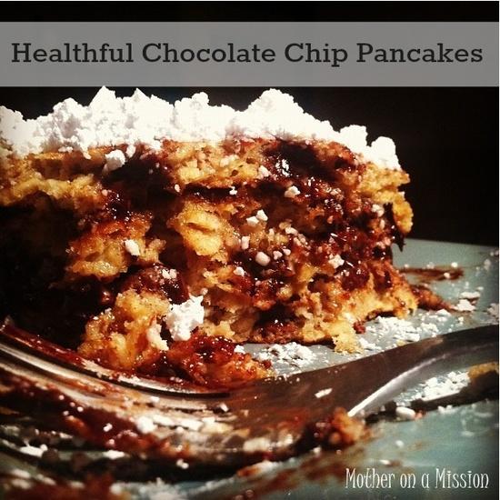 Healthier Chocolate Chip Pancakes on MyRecipeMagic.com