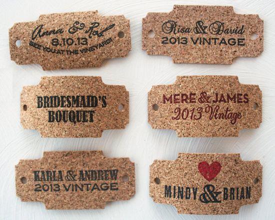 cork wrap for bouquet - wine themed wedding ideas