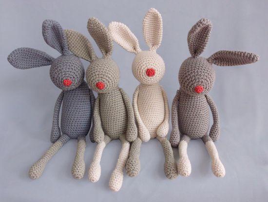 """Stupshase"" – Kuscheltier, Hase // cuddle toy rabbit by eineIdee via dawanda.com"