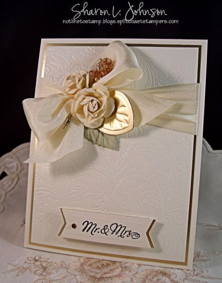 Wedding Card using products by JustRite, Prima, May Arts from The Stamp Simply Ribbon Store.