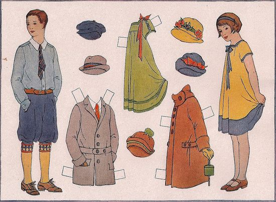 Industrial Arts Paper Doll