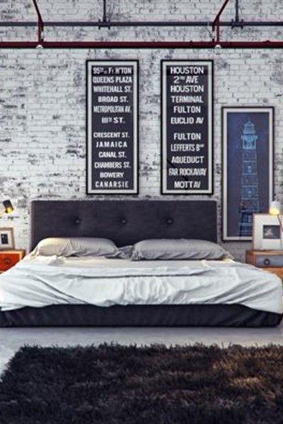 ? Trendy masculine Industrial looking bedroom designs from bobvila.tid.al/...