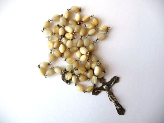 Antique Rosary Chain  Vintage  Silver Tone by PortugueseWonders, $35.00