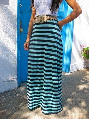 easy diy maxi skirt by enid