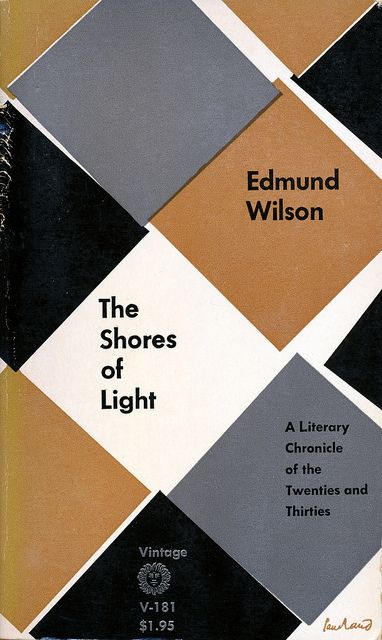 Book cover design by Paul Rand: The Shores of Light by Edmund Wilson, Vintage Books, 1961, via Scott Lindberg