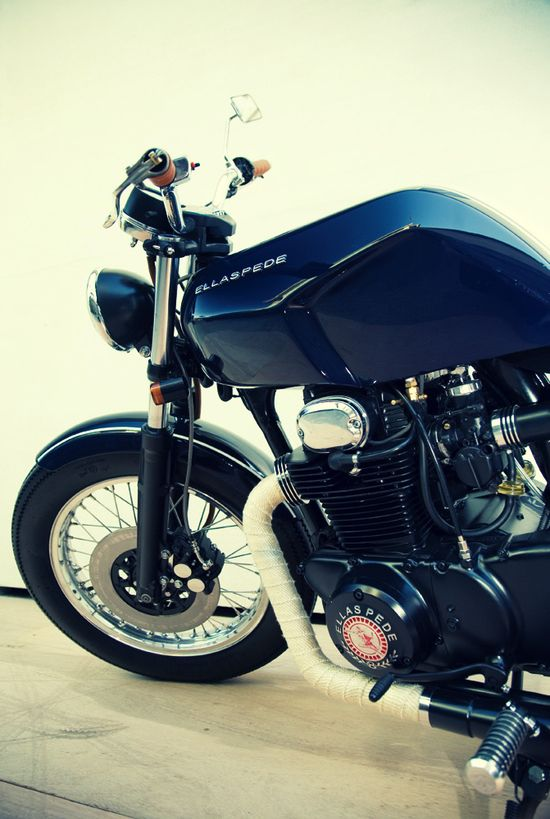 Honda CB350 by Australian custom motorcycle builder Ellaspede.