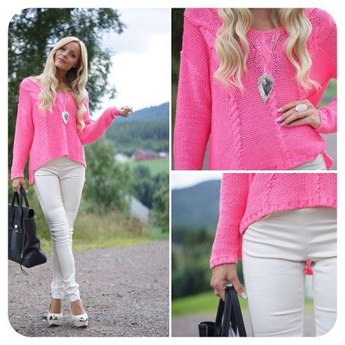 #pink #and #white #outfit