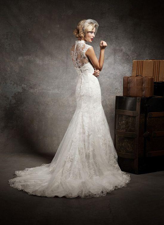 Lace Back Wedding Dresses ~ Justin Alexander 2013
