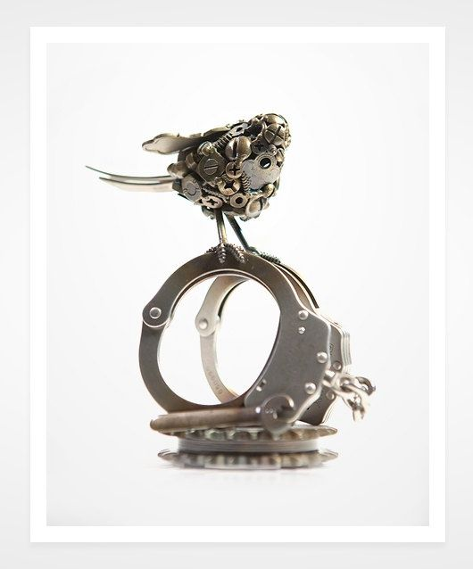 Handcuffs with #3d character #3d char