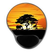 Wild Animals on African Savannah Sunset Mousepad